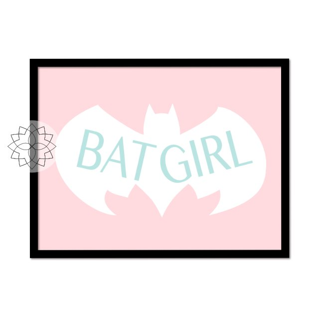 "Plakat ""BAT GIRL"" A3"