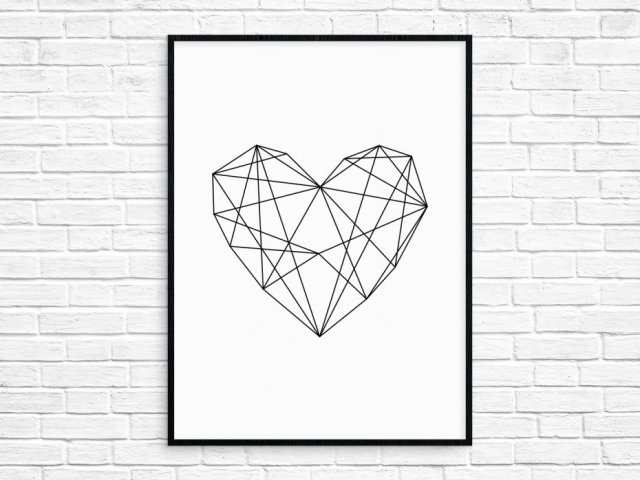 "Plakat 50x70cm ""I Heart You"""