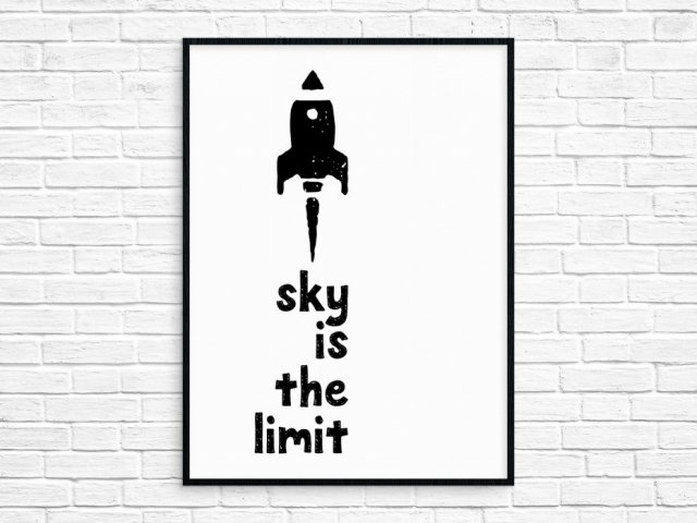 "Plakat A4 ""Sky Is The Limit"""