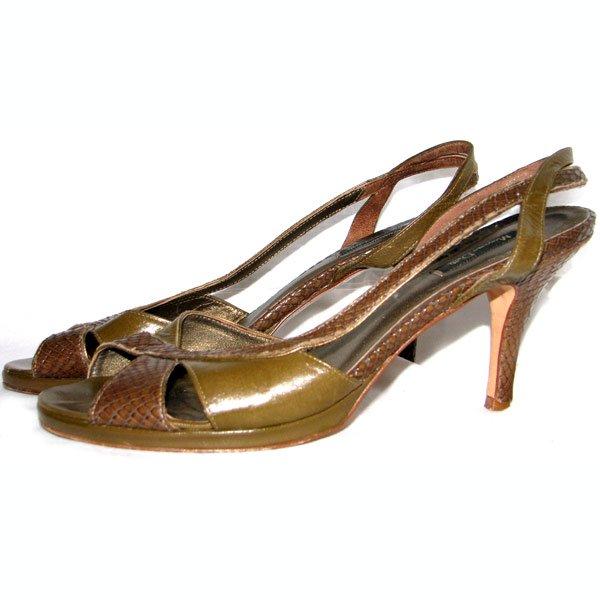 WYPRZEDAZ % Massimo Dutti  sandałki khaki