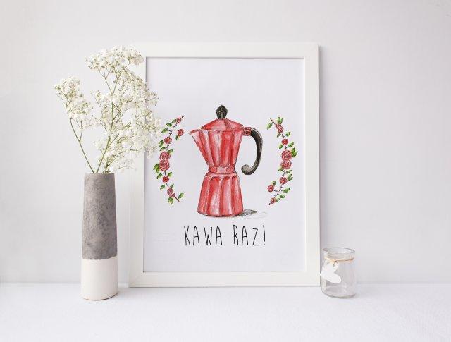 "Plakat ""Czerwona kawiarka"" format A3"