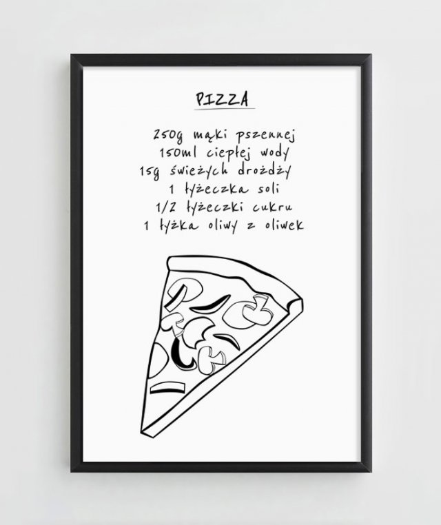 "Plakat A4 ""Pizza"""