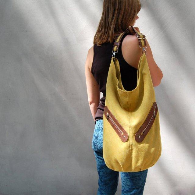KOFI duża torba worek turkusowa