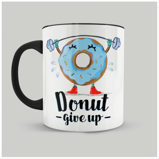 "Kubek ""Donut give up"" II"