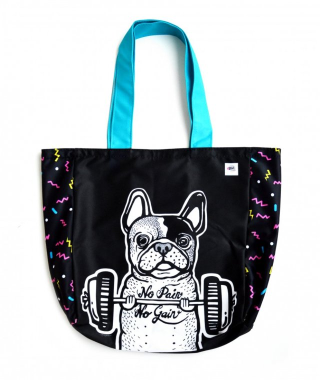 Dwustronna torba - Frenchie Workout!