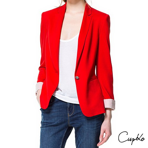Zara Red Blazer