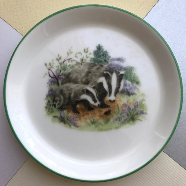 Frances Fry ❀ڿڰۣ❀ CROWN - STAFFORDSHIRE ❀ڿڰۣ❀ Badger and Cub ❀ڿڰۣ❀