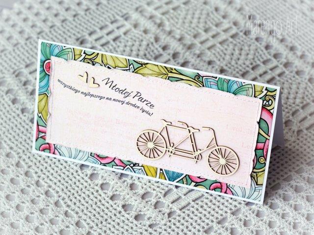 TANDEM - kartka ślubna w radosnych kolorach
