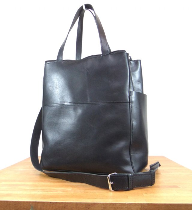 38e68f787612e Czarna elegancka skórzana torba - Torebki - DecoBazaar