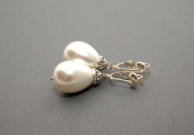 klipsy z perłą seashell