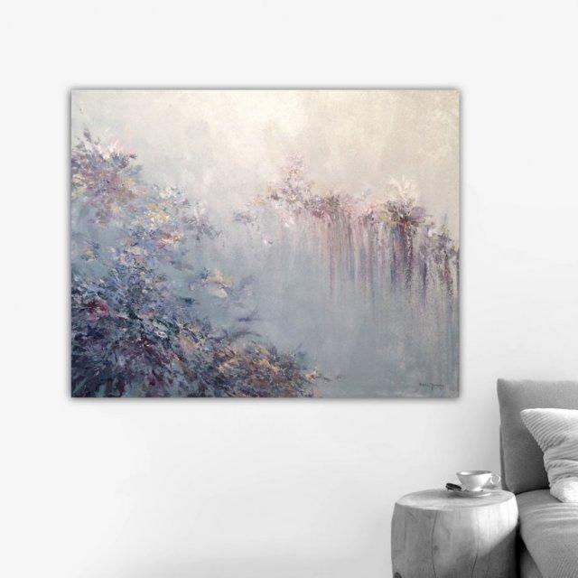 Płótno 100 X 80 Cm Obraz Farbami Akrylowymi Sztuka Decobazaar