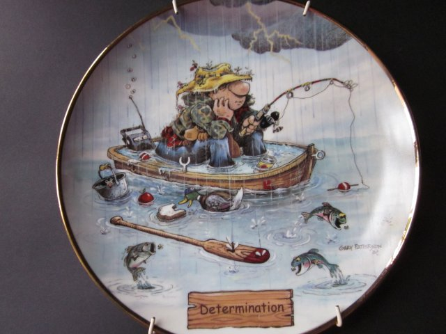 DETERMINATION BY GARY PATTERSON - THE ART OF FISHING  - exlusively commissioned by  DANBURY MINT - CERTYFIKAT AUTENTYCZNOŚCI