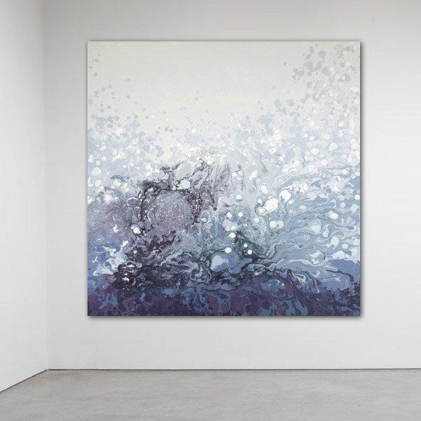 Płótno 100 X 100 Cm Obraz Farbami Akrylowymi Sztuka Decobazaar