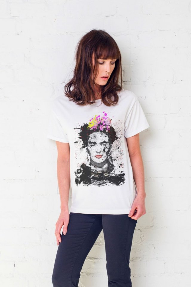 FRIDA PAINTED Oversize T-shirt