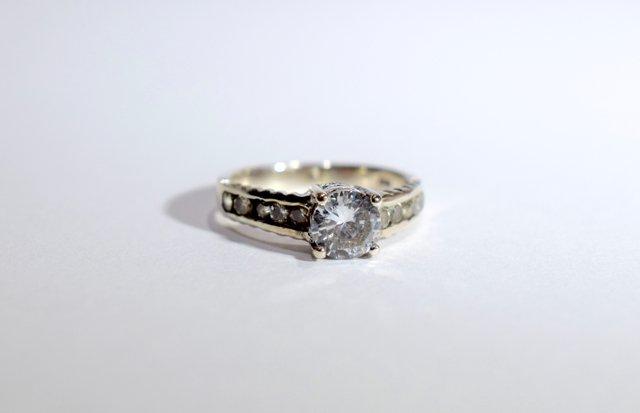 Pierścionek Srebrny Wzór Tiffanyego Biżuteria Vintage Decobazaar