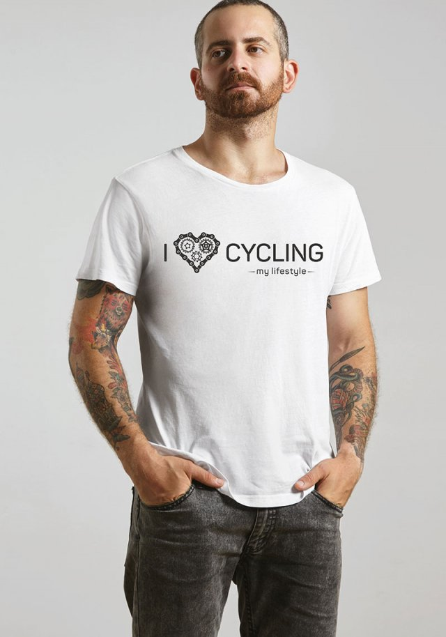 Koszulka T-SHIRT.  I love cycling - my lifestyle