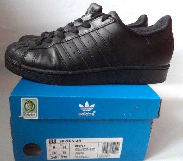 Buty sportowe Adidas Superstar skórzane roz 38 23
