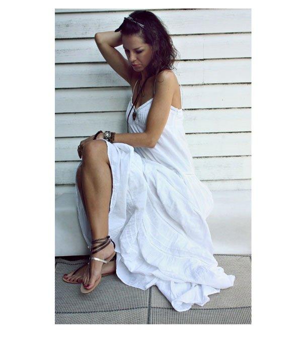 Mango biała sukienka Ubrania vintage DecoBazaar