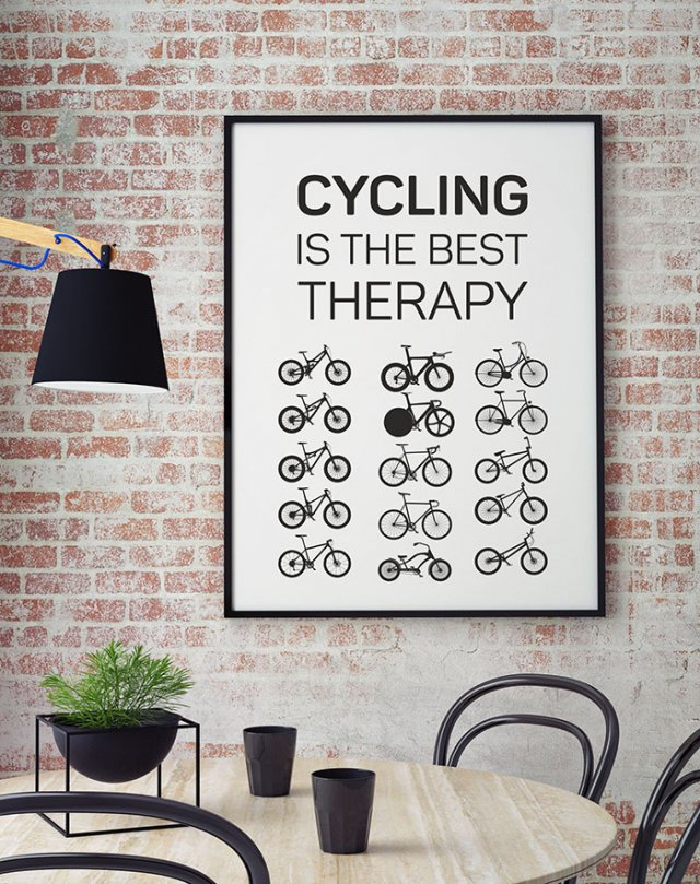 plakat. Cycling is the best ther... (format B2)