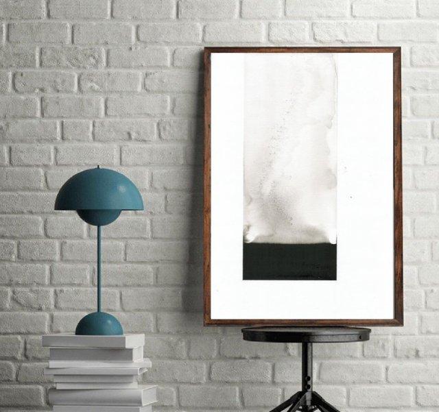 Grafika Czarno Biała 30x40 Wykonana Ręcznie Abstrakcja Elegancki Minimalizm Plakat