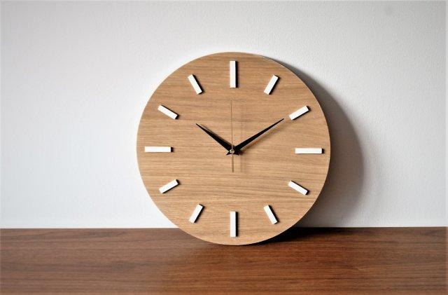 Góra 30 cm, cichy zegar na ścianę, DĄB, styl skandynawski - Dom LI96
