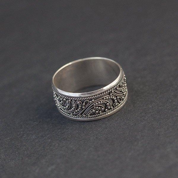 Duży orientalny pierścionek Pierścionki, obrączki srebrne