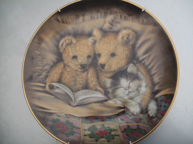 bedtime story  by Sue Willis franklin mint HEIRLOOM RECOMENDATION  porcelanowy talerz kolekcjonerski