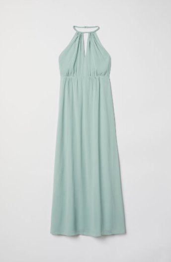 Mint Halterneck Dress