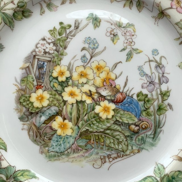 Brambly Hedge - Jill Barklem 1982r. ❀ڿڰۣ❀ ROYAL DOULTON - Spring 21cm. ❀ڿڰۣ❀ Talerz