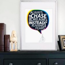 Plakat A3 Always chase your dreams