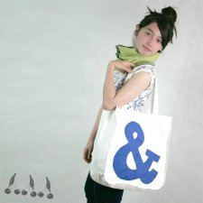 ::: SHOPPING BAG ampersand NAVY :::