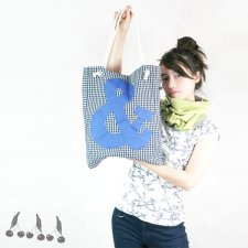 ::: ampersand SHOPPING BAG blue:::