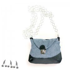 ::: 2in1 POUCH bag BLACK&NAVY :::