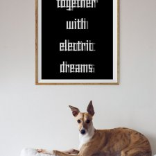 plakat: Together with electric dreams, 40/50 cm