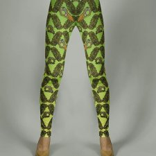 BIRD SKULL SUN-GRASS PATTERN LEGGINGS