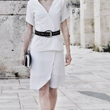 White Asymmetric Tunic