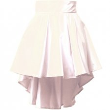 White Waterfal Skirt