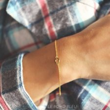16k Gold Plated Tiny Karma Bracelet