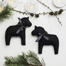 2 koniki świąteczne ozdoby choinkowe