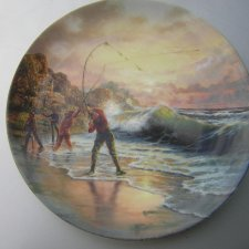 "wedgwood ""GONE FISHING"" - ""The last Cast"" by Graham Twyford"