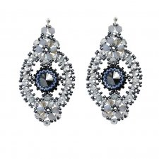 Glossy earrings- silver