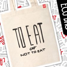 "Mops eko eco torba ""To eat or not to eat"""