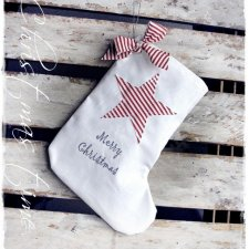 WHITE CHRISTMAS skarpeta- cottage home vintage & retro