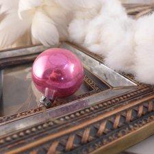 Stara bombka , różowa, mała