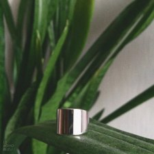 Rhodium Plated Wide Band Ring