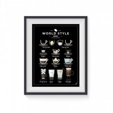 World Style Coffee - plakat 30x40