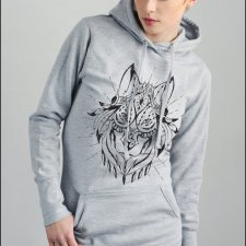 Bluza long Ethnic wolf