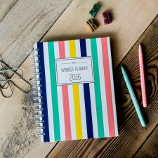 Wonder Planner Color Stripes 2016 kalendarz