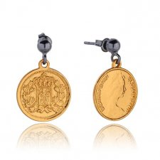 Royal Coin Earrings in Gold