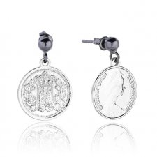 Royal Coin Earrings in Silver